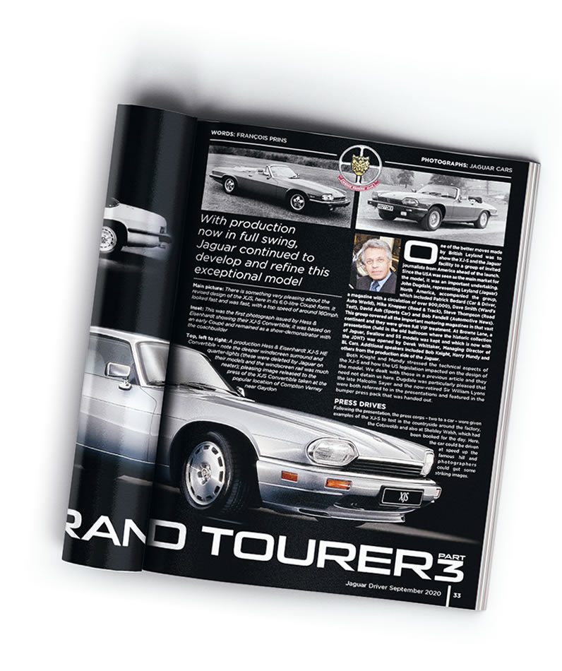 Example article in Jaguar Driver magazine